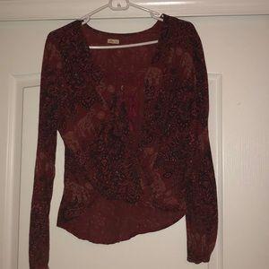 hollister boho blouse